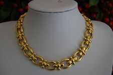 MAGNIFICENT 1980 HIGH COUTURE RUNWAY NINA RICCI GOLD TONED METAL CHOKER NECKLACE