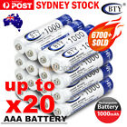 4-20X BTY AAA Rechargeable Battery Recharge Batteries 1.2V 1000mAh Ni-MH OZ <br/> 🔥SAME DAY SHIPPING🔥High Quality🔥Sydney Stock🔥