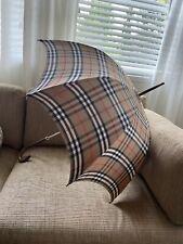 Vintage 1968- 1969 Burberry's umbrella/ Parasol 100% Cotton Made In England