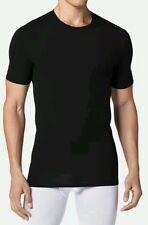 Tommy John T-Shirt - Crew Neck-Cotton/Spandex - Black Size L