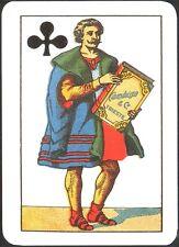1 CARTA DA GIOCO REGIONALI ITALIANE - TOSCANE - A SEGNI FRANCESI -CAMBISSA, 1925