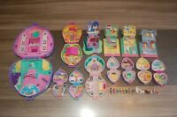 POLLY POCKET PETIT LOT DE 13 POLLY POCKET AVEC PERSONNAGES DONT UN DISNEY.