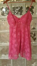 Victoria's Secret Pink Hearts Babydoll Size Small