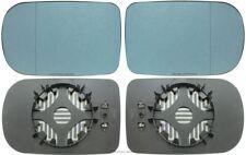 Spiegelglas Außenspiegel blau beheizt links rechts BMW 5er E39 Facelift 7er E38