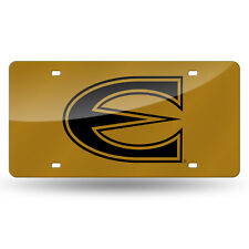 Emporia State Hornets NCAA Gold Mirrored Laser Cut License Plate Laser Tag