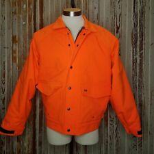 10X Gore-Tex Blaze Orange Rain Coat Jacket Large Men's Hunting Thinsulate Hi-Vis