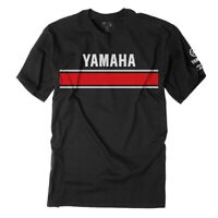 Factory Effex Licensed Yamaha Retro T-Shirt Black Mens All Sizes