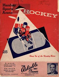 1955-1956 Vintage Hershey Bears Program