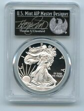 2017 W American Silver Proof Eagle $1 PCGS PR70 Thomas S Cleveland First Strike