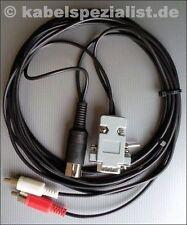 Commodore C128 / C128D Kabel an 2x Cinch 40/80 Zeichen