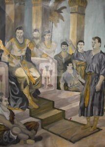 Large oil painting figures portrait