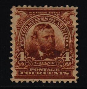 1903 Grant 4c brown Sc 303 MHR XF single