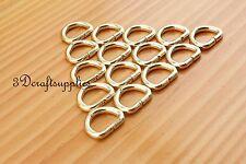 d ring d-rings purse ring Webbing Strapping metal light gold 1/2 inch 20pcs U169