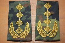 Bundeswehr Schulterklappen General Rangschlaufen Abzeichen GI BW Heer Flecktarn
