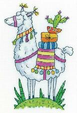 HERITAGE CRAFTS LLAMA COUNTED CROSS STITCH KIT KAREN CARTER COLLECTION NEW