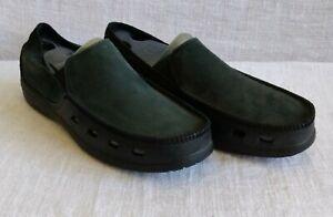 Men's Crocs Black Tideline Leather - Size 12