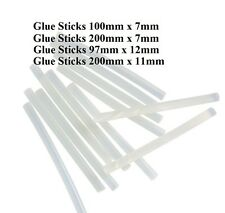 Glue Gun Sticks Melt Clear Adhesive Craft Stick 7mm to 12mm x 100mm to 200mm NEW