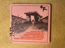 BEER MAT COASTER - TWO SIDED - GUINNESS THE DOLMAN  (FF150)