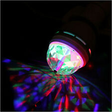 E27 3W Disco Multicolor Auto Rotating RGB LED Bulb Stage Light Xmas Party Lamp