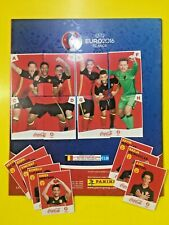 PANINI EURO FRANCE 2016 EMPTY ALBUM + SET EXTRA STICKERS COCA-COLA BELGIO RARE!!
