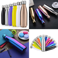 500ml Vacuum Insulated Stainless Steel Thermos Double Wall Travel Water Bottle