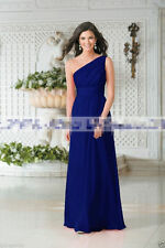 Long One Shoulder Chiffon Wedding Formal Evening Party Prom Bridesmaid Dress6-22