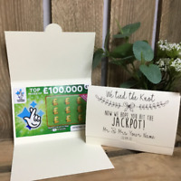 Scratch Card Holder. Wedding Favour Idea. Lotto ticket holder