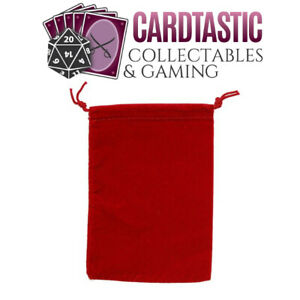 Chessex Dice Bag Suedecloth Small Red CHX02374