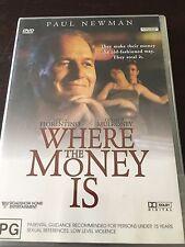 """Where The Money Is"" Paul Newman (DVD, 2003, PAL Reg 4) *VGC*"