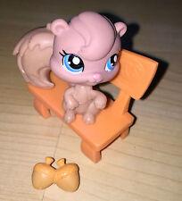 Littlest Pet Shop LPS giocattolo figura scoiattolo seduta & ghiande 4 cm