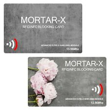 2-Pack MORTAR-X RFID NFC Blocking Cards (not sleeve) Contactless ID Data Blocker