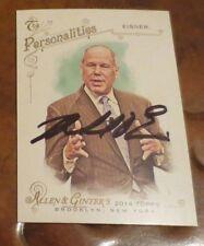 Michael Eisner former Walt Disney Ceo signed autographed Allen Ginter card