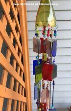 Wind Chime Sun Catcher Stained Glass Wine Bottle Garden Yard Art Decor