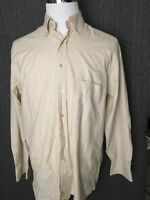 Jeff Rose Large Men's Long Sleeve Button Front Casual Shirt Made in Italy
