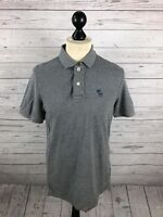 ABERCROMBIE & FITCH Polo Shirt - Medium - Grey - Great Condition - Men's
