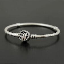 Authentic PANDORA Silver Poetic Blooms Clasp Bracelet 590744cz 19cm