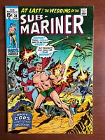Sub-Mariner #36 (1971) 7.5 VF Marvel Key Issue Bronze Age Comic Wrightson Art