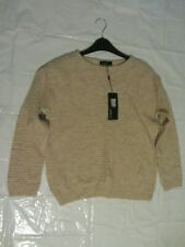 Womens Marks And Spencer Autograph Knitwear Wool Beige Jumper Size 8 BNWT