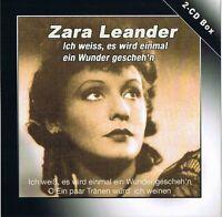 """ZARAH LEANDER """"Ich weiß, es wird einmal ein Wunder gescheh'n"""" 2CD-Set OVP & NEU"""