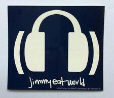 JIMMY EAT WORLD Headphones Sticker NEW OFFICIAL MERCHANDISE