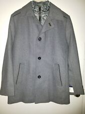 Tommy Hilfiger Men's Briggs R38 in Top Coat W/ Quilted Bib - grey (retails $350)