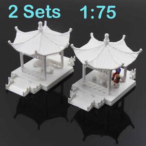GY01075 2Stk. DIY Pavillon Modell Gloriette Chinesischen Bau Pädagogisches 1:75