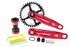 Aerozine Xone Mountain MTB Bicycle Bike 11 Speed Crankset 38T 170mm 175mm Red