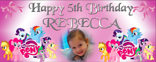 Large Personalised Birthday Party Banner Decorations My Little Pony Girls