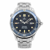 Omega Seamaster 41MM Steel Blue Dial Quartz Mens Watch 2541.80.00