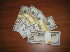 PROP MONEY Used LOOK New $10,000 Blank Filler Pack for Movie TV Videos Novelty 2