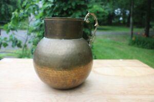 Antique Brass Pitcher original patina