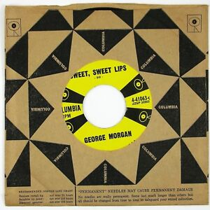 GEORGE MORGAN Sweet, Sweet Lips/Perfect Romance 7IN 1957 ROCKABILLY NM-