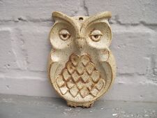 Pottery Wall Hanging Owl Bird of Prey Spoon Rest