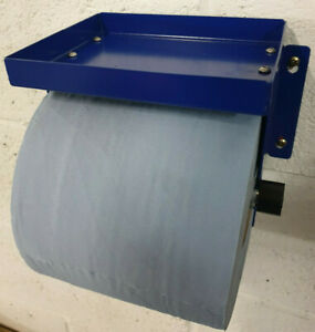 Metal, Blue Roll Paper Holder and storage shelf